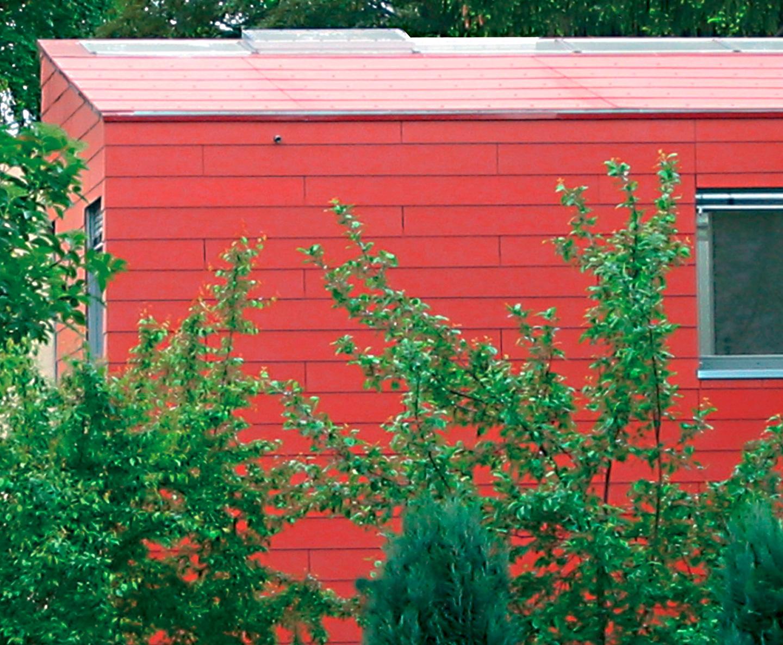 Dachverglasung / Roter Kubus in Schöneiche