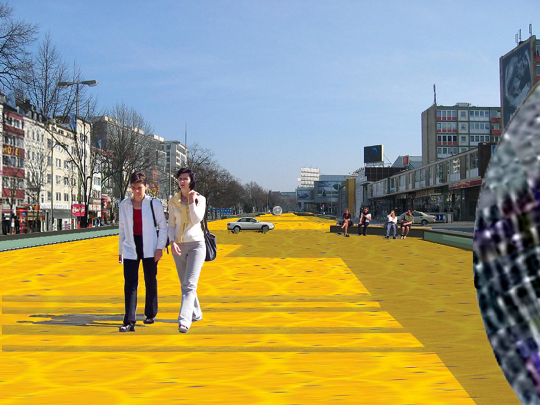 Platz bei Tag / Spielbudenplatz Hamburg / Offener Realisierungswettbewerb