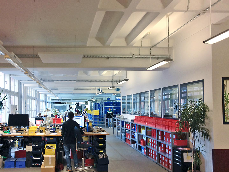 Produktionsfläche / ic! Brillenproduktion Berlin