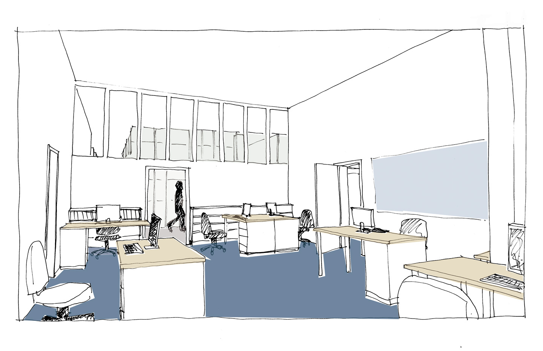 Büro Produktion / HAU2 / Entwurf_Wettbewerb