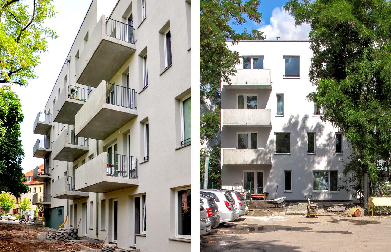 Südwest- / Südostfassaden / M3A_Mehrfamilienhausneubau
