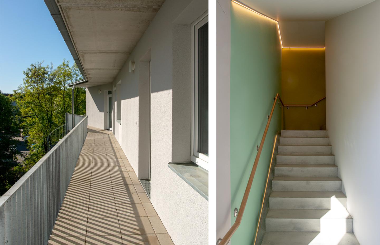 Laubengang / Treppenhaus / M3A_Mehrfamilienhausneubau
