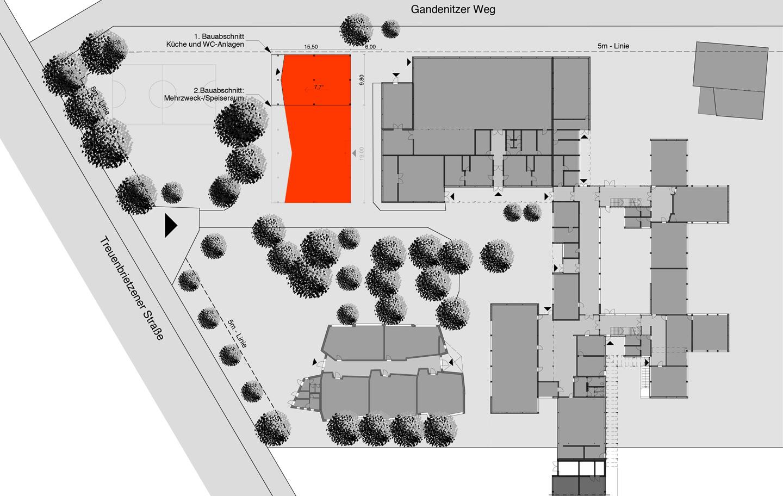 Lageplan / Waldorfschule im Märkischen Viertel