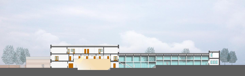Schnitt 2 / Glückstädter Weg / Entwurf_Wettbewerb