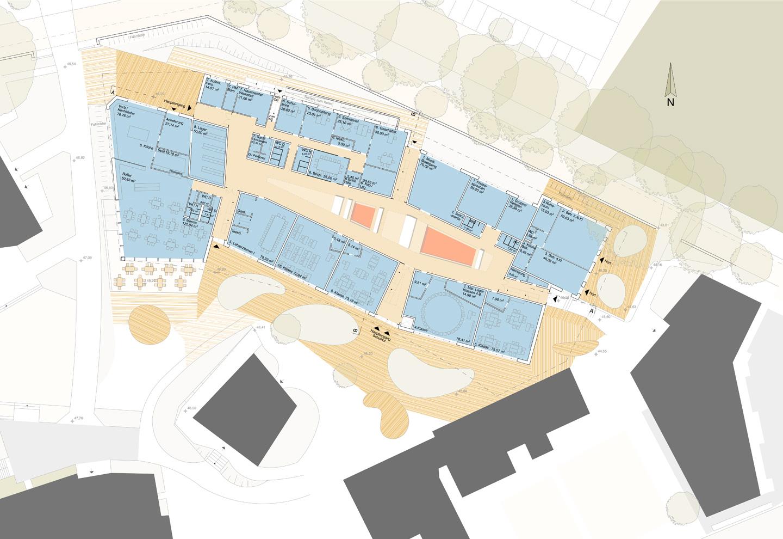 Obergeschoss / Freie Waldorfschule Kleinmachnow / Wettbewerb